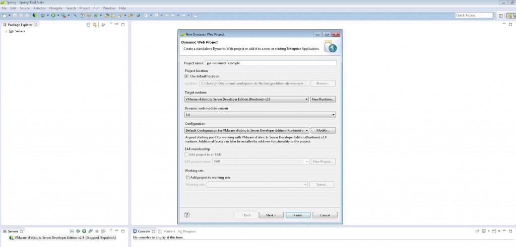 JPA - Hibernate Example - Entery Project Name